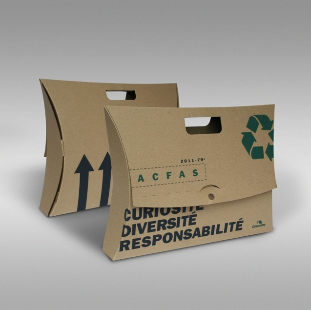 mallette promotionnelle carton recyclé