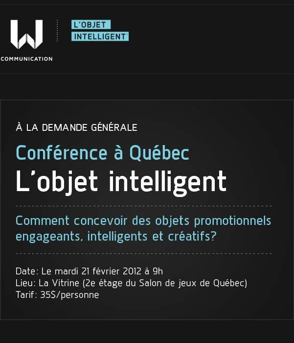 Conférence à Québec - L'objet intelligent
