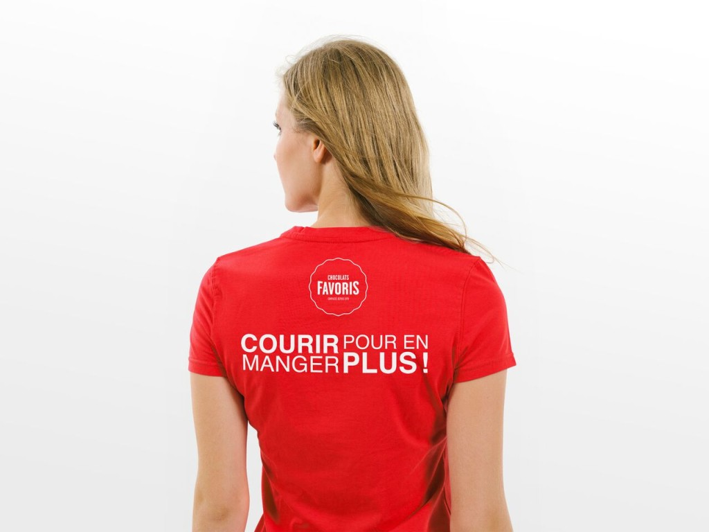 T-shirt promotionnel original Chocolats Favoris